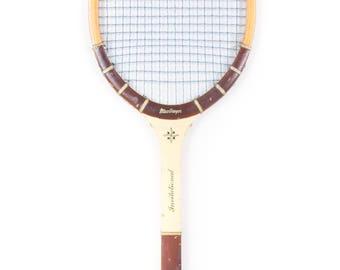 Vintage Wooden Tennis Racquet / MacGregor Invitational Tennis Racket / Antique Wood Tennis Racket / Antique Tennis Racket Sports Decor