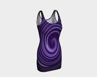 Purple Swirl Bodycon Dress