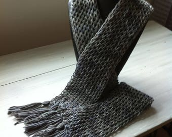 Cozy Fashionable Hand-Knitted Scarf