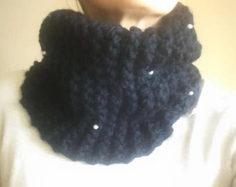 SNOOD in wool and beads