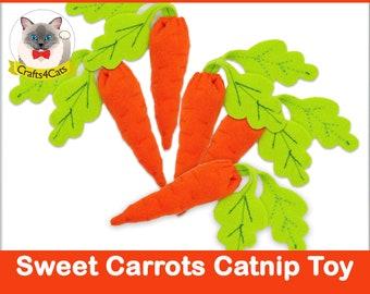 Felt catnip cat toy // Catnip Carrot // Unique catnip cat toy,cute cat toys,vegetable catnip toy,felt catnip toy,Crafts4cats