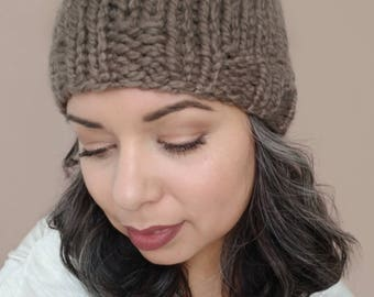 3:16 Knit Fitted Beanie, Chunky Wool