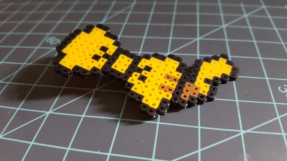 Pikachu bow - Pokemon, Pikachu, Electric, pearler, pixel art