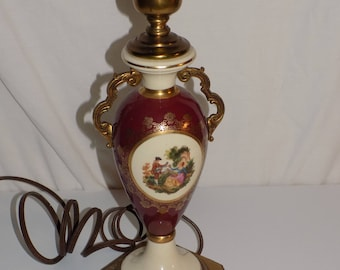 Artistic Lamp Mfg Co. NYC Gilded Victorian Picture Table Lamp