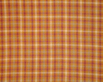 Homespun Fabric | Primitive Cotton Fabric | Woven Plaid Fabric | Rag Quilt Fabric | Home Decor Fabric | Craft Fabric | Sewing Fabric