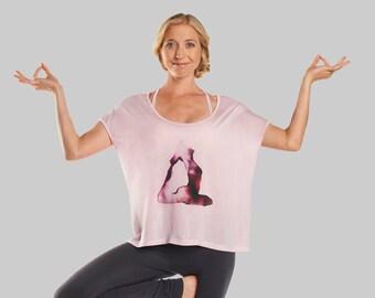 Pratyāhāra Relaxed Fit Yoga Shirt - Soft Pink