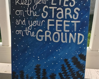 eyes on the stars and feet on the ground painting