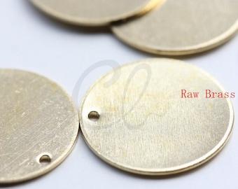 20 Pieces Raw Brass Round Disc - Blank 18mm (1797C-F-597)