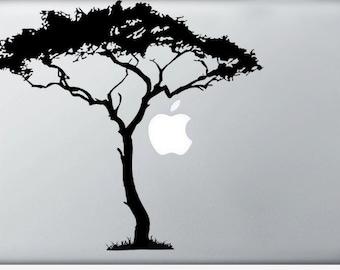 African Tree, apple moon laptop DECAL- macbook iPad computer- nature vinyl sticker