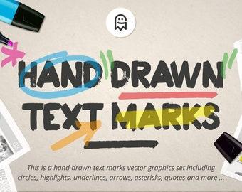 Hand gezeichnete Marken