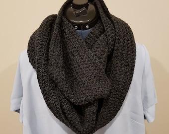 Crochet Womens Infinity Scarf, Cowl Scarf, Neckwarmer Scarf. READY TO SHIP