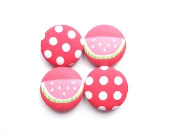 Watermelon Magnets, Refrigerator Magnets, Dot Magnets, Red Magnets, Summer Magnets, Fruit Magnets, Kitchen Decor, Fridge Magnets, Gift Idea