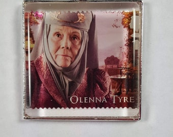 Game of Thrones Olenna Tyrell HBO GOT George R R Martin Diana Rigg Queen of Thorns UK Genuine Postage Stamp