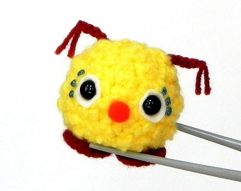 Amigurumi crochet mochi size mini doll toy - Red nose kawaii monster MochiQtie - crochet amigurumi