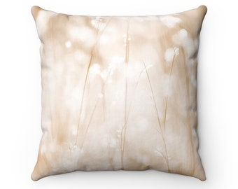 Wheat Field Spun Polyester Square Pillow