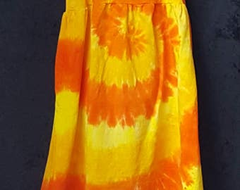 Orange Dreamsicle Tye Dye Fun in the Sundress Size 2T to Size 12