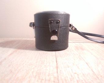 Vintage Camera Lens Hard Case - Made in Japan Adjustable Strap Telephoto Lens Case