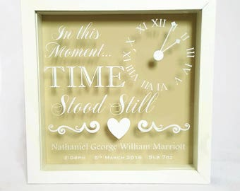 New Baby Gift, Personalised Baby Gift, Nursery Decor, Home Decor, Baby Gift, Framed Gift, In This Moment, Moment in Time, New Mum Gift