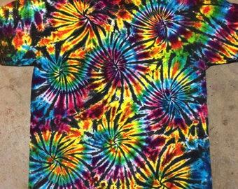tie dye shirt Black Fireworks CUSTOM MADE tiedye die 5XL 4XL 3XL 2XL hand dyed tiedye
