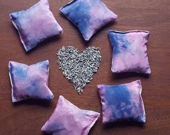 Organic Lavender Sachet Natural Dye Silk Aromatherapy Mothers Day Gift