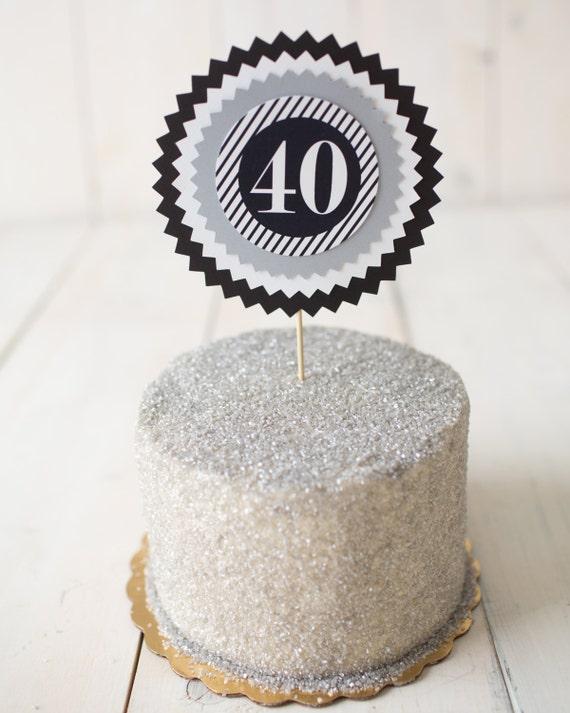 40th Birthday Party Decorations Milestone Birthday Cake