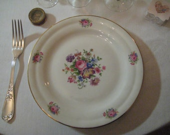 China plates with a flower pattern