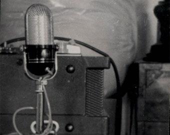 vintage photo 1966 Microphone still life