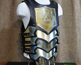 Larp Breastplate and Back Dragon Conqueror
