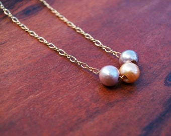 Edison Pearl Floating Necklace