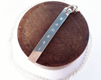 Sterling Silver Namaste Necklace
