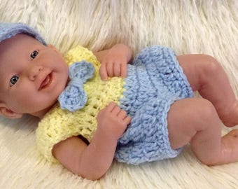 Clothes for berenguer 14 inch la newborn baby - crochet