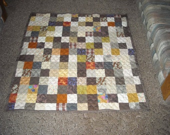 Throw Size Quilt - Supply Your Own Fabrics - Custom Made Quilt - Patchwork Quilt / Custom Made to Order - Full Payment