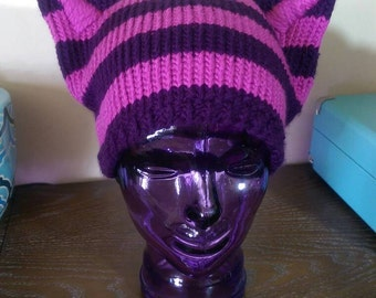 Alice in Wonderland Cheshire Cat Hat, 'The Cheshie' Cat Hat in Pink and Purple Stripes