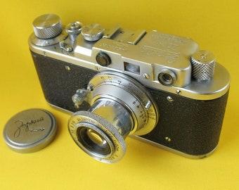 CAMERA ZORKI with Lens Industar- 22 1:3,5 #220985 Russian Leica copy Soviet USSR
