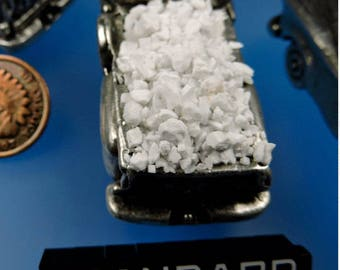 Pristine White Magnesite Inlay #12, Hand Crushed Magnesite Inlay, Wood Inlay, Jewelry Inlay, Chip Inlay, Gift Inlay, 49erMinerals