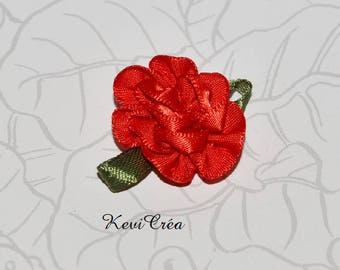 4 x flower satin ribbon fabric