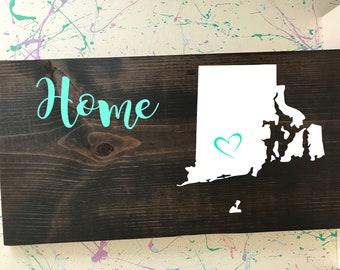 Rhode Island Home Plaque