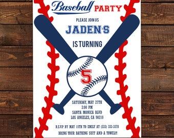Baseball Invitation - Baseball Party Invitation - Printable Baseball -  Birthday boy invitations - Baseball theme party #DPI1338