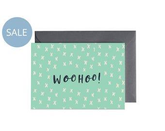 ON SALE WOOHOO Hooray Illustrated Greeting Card