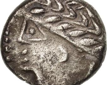 allobroges area of dauphiné denarius au(50-53) silver delestré3113