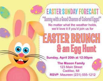 Easter Invitation - Humorous Easter Brunch & Egg Hunt Invitation