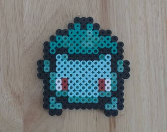 Bulbasaur Pokemon - 4.5x4.5 Perler Bead Art Pixel Art