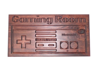 Gaming Room Nintendo Controller Sign