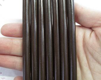 10 DARK CHOCOLATE brown glue sticks for drippy deco sauce, cell phone deco etc, #448