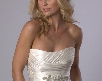 Crystal rhinestone wedding dress belt/bridesmaid sash