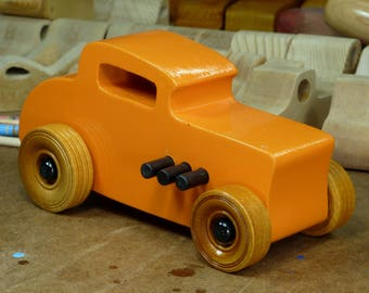 Wooden Toy Car, 32 Ford Deuce Coupe, Little Deuce Coupe, Hot Rod, Street Rod, Dragster, Speedster, Wood Toy, Boys, Girls Gift,  Race Car,