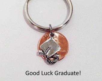 Graduation Gifts for Friends, Graduation Keychain, Graduation Gift Ideas, Graduation Penny, Graduation Gift for Him, Graduation Gift for Her