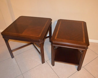 Antique Genuine High Quality Lane Altavista Virginia Furniture End Tables  988 05