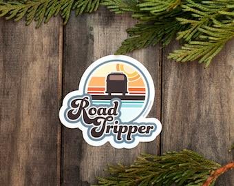 ROAD TRIPPER Sticker : Summer Road Trip, Road Adventure, EDC, Stickers, Road Warrior, Adventure Sticker, Outdoorsy Sticker, Explore