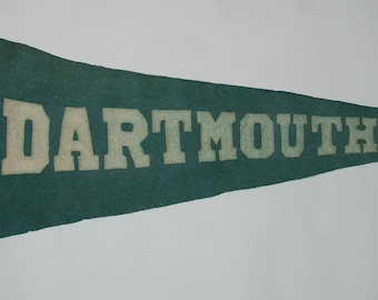 1920s-'30s era Ivy League Dartmouth College Sewn Letters Felt Pennant — Free USA Shipping!